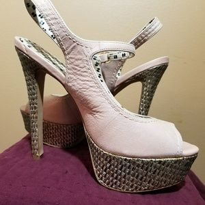 Jessica Simpson pale pink sling back